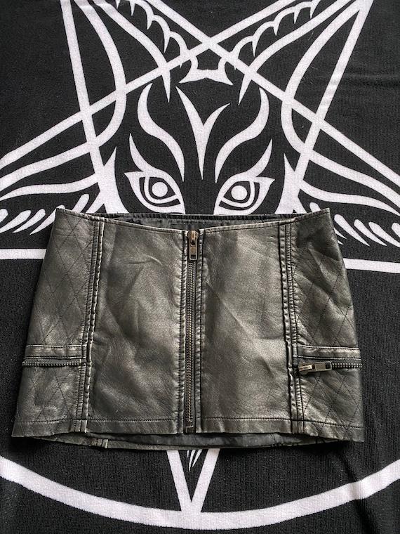 Lip Service Gun Metal Gray Pleather Mini Skirt