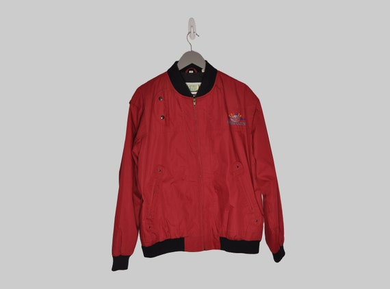 Vintage Bomber Jacket, Unisex Bomber Jacket, 90s V