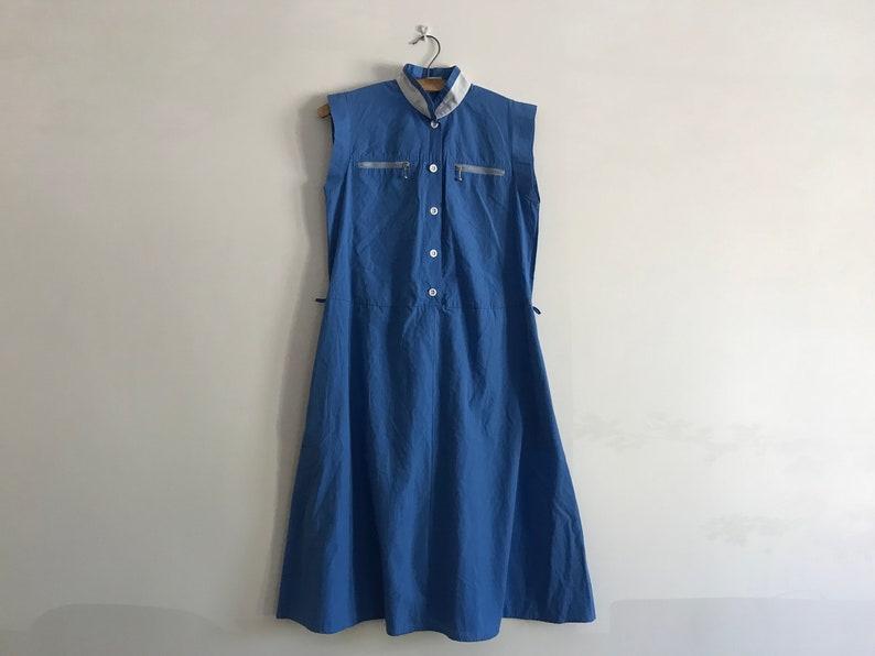 Vintage Retro Elegant Women Dress Light Blue 90s Dress