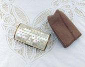 Vintage Cigarette Case Mother Of Pearl Case Ronson Cigarette Case Ladies Cigarette Case Lipstick Case Cigarette Case and Pouch