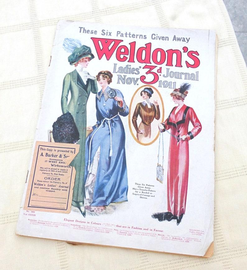 Ephemera Embroidery Crafts Weldon/'s Ladies/' Journal 1911 Women/'s Magazine UK Knitting Crochet Patterns