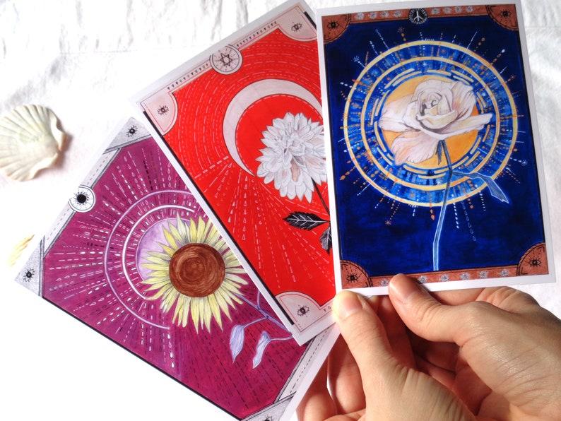 Imprimer A6 Fleurs Cartes postales imprimées Art Mural 3 | Etsy