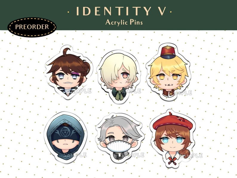 PREORDER Identity V Acrylic Pins