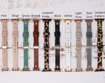 Leopard Apple Watch Band 38mm 40mm 42mm 44mm,Leather Watchband,Leopard Pattern Apple Watch Strap,iWatch Bracelet,Personalized Gift, Custom