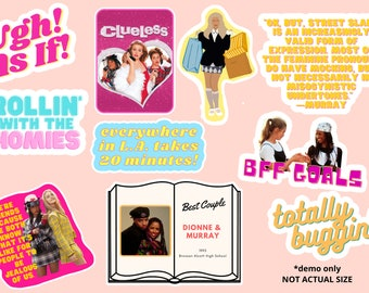 Clueless Sticker Pack | Clueless Vinyl Stickers | Pack of 10 or Individual Stickers