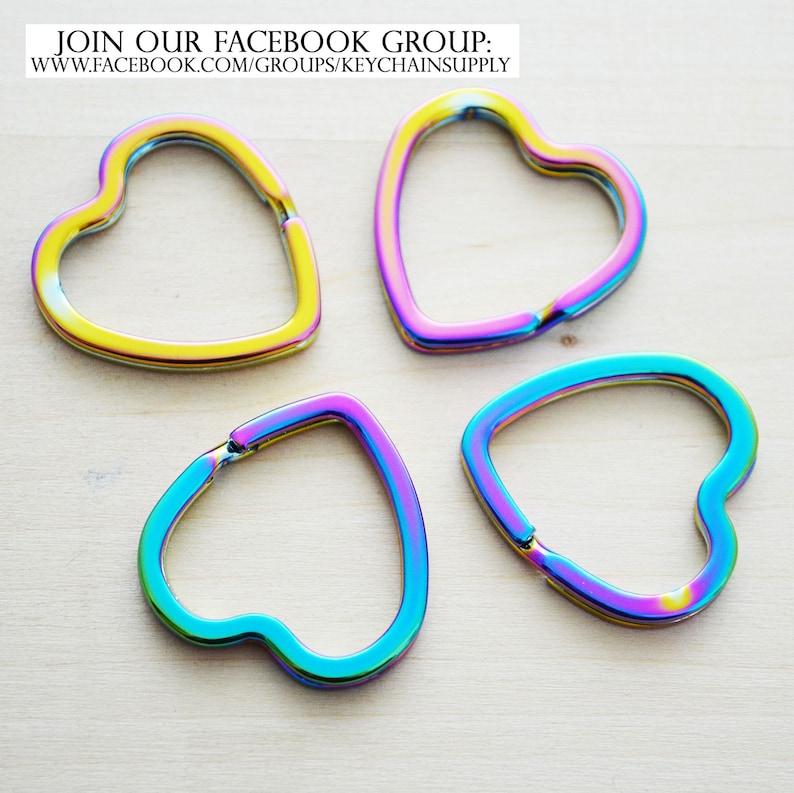 Set of 5 Rainbow Heart Enamel Charms Rainbow Heart Charms Gold  Enamel Charms