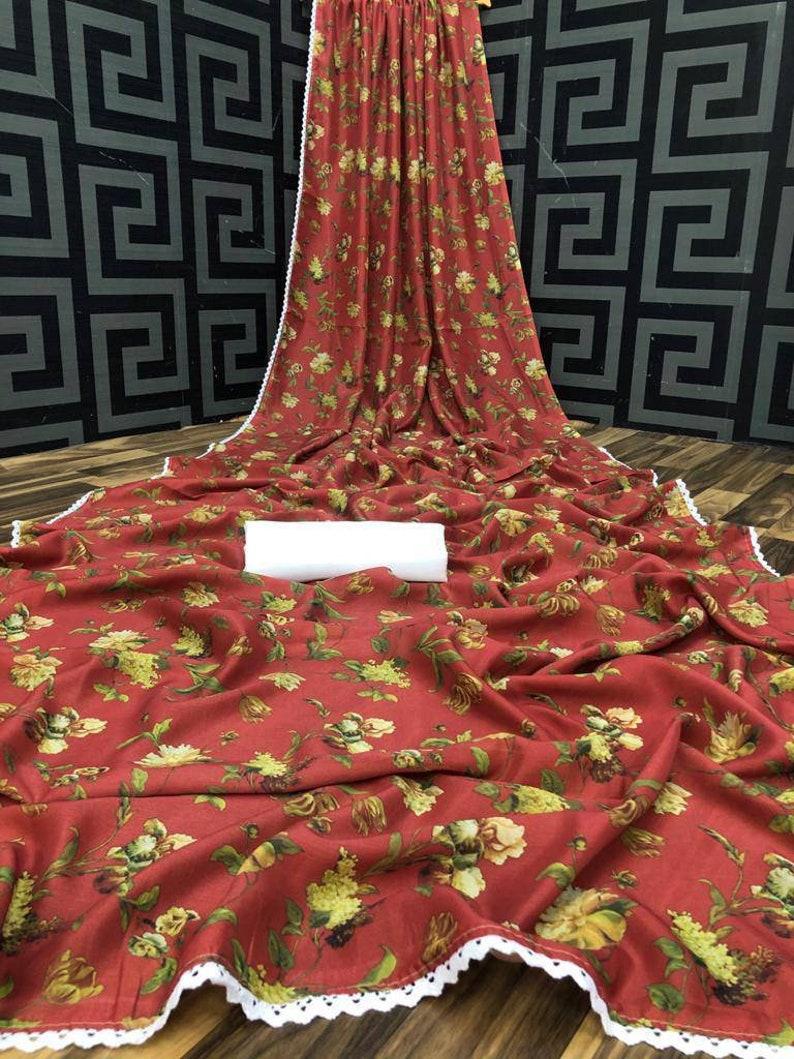 Red Heavy Soft silk saree and blouse for women.saree,saree for women,saree dress,designer saree,wedding saree,saris,traditional saree,sari