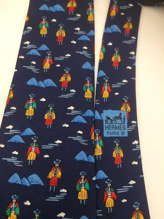 Hermes, blue silk tie