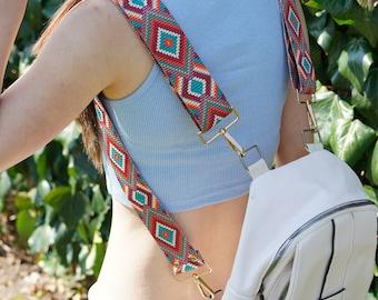 Custom Backpack Straps Set, Adjustable Backpack Straps, Colorful Woven Backpack Straps