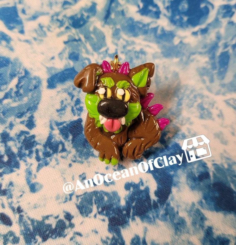 Puerto Rico Folklore Cute Doggo Charm Cryptid Art Chupacabra Charm South /& Central America Cute Crypto Buddy Kawaii Spooky Gift
