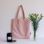 Clearance! Soft Pink Tote Bag , Light Canvas&Linen Tote Bag, Bridesmaid Tote, Tote Bag Evjf