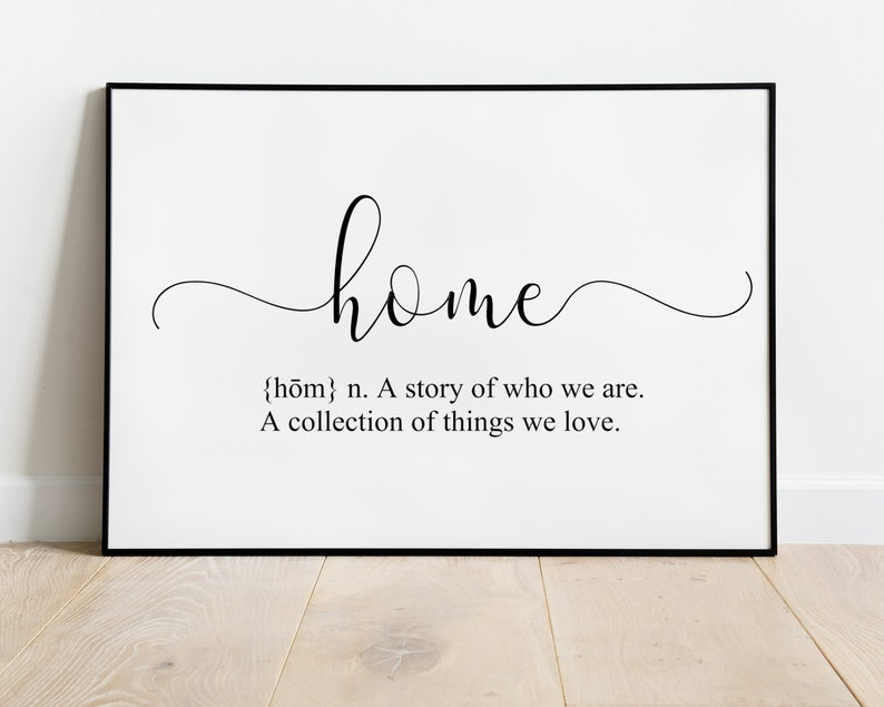 Home Definition Printable Wall Art  Home Sign  Dictionary image 0
