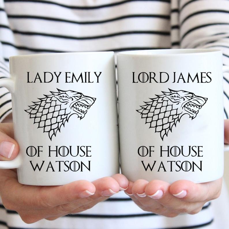PERSONALIZED Game of Thrones House Sigil Mug  Custom Game of image 0
