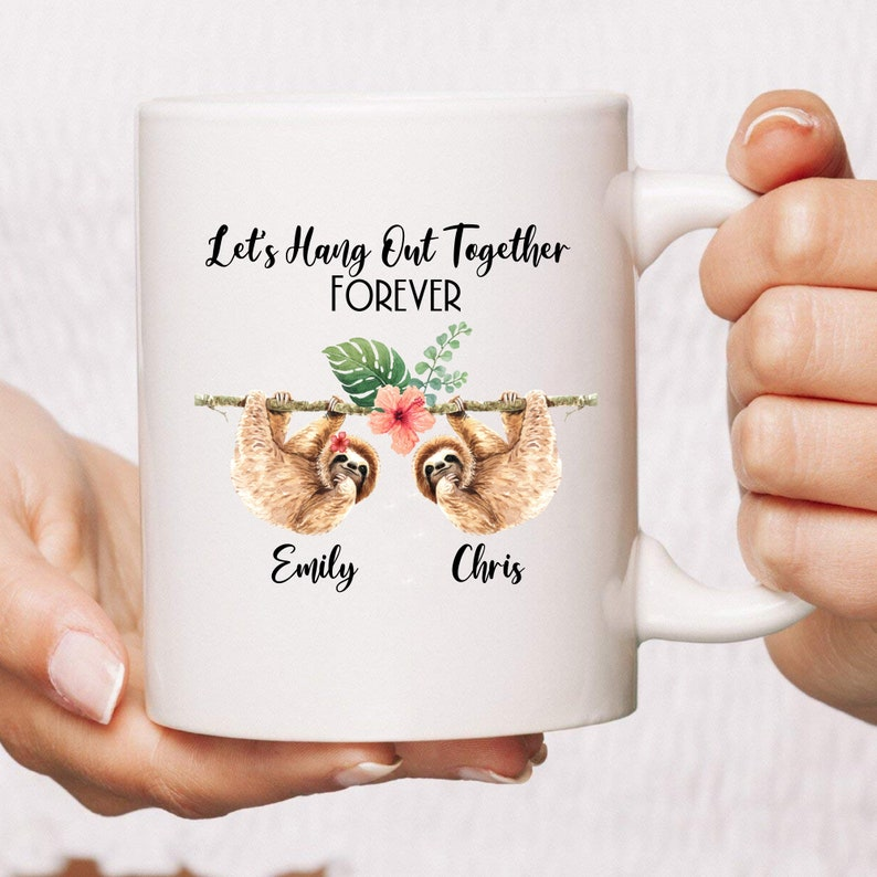 PERSONALIZED Let's Hang Out Together Mug  Proposal Gift  image 0