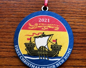 First Christmas in our new home - New Brunswick - Christmas Ornament English or French