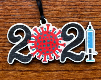 Vaccinated in 2021 - Merry Christmas - Ornament