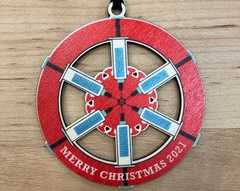 2021 Vaccinated - Christmas Ornament - Merry Christmas