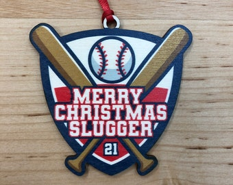 Baseball  - Custom name Ornament