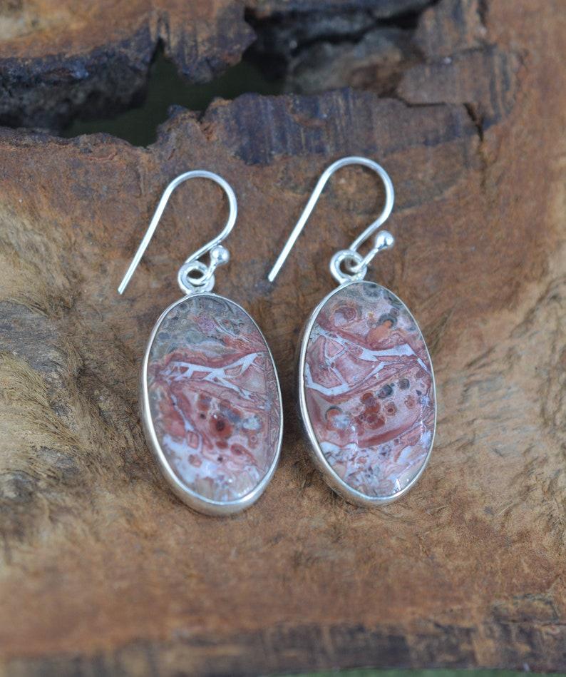 Bird Eye 925 Sterling Silver Gemstone Jewelry Oval Shape Hook Earring