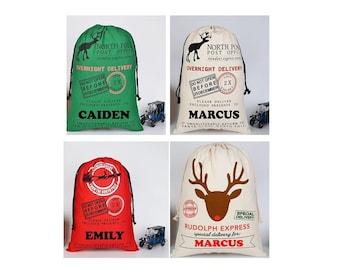 Christmas Gift Sacks. Santa Bags. Custom Santa Sacks. Personalized Santa Sacks, Santa Sacks   PRE-ORDER NOW!