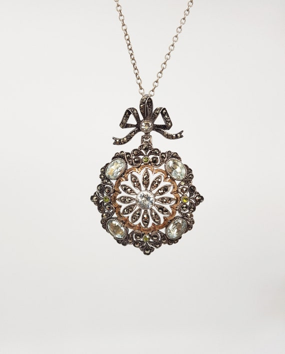 Antique french silver pendant, ca. 1880 - 1890