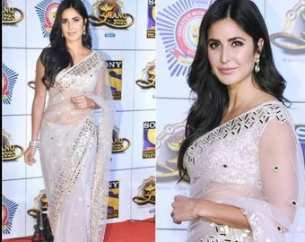 Latest Ready Made Black Dupin Saree Choli Designer Sari Top Wedding Wear Blouse