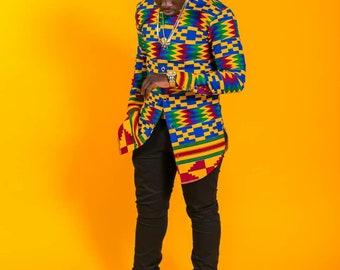 African men's shirt, African fashion, African men's clothing, vetement, Kitenge shirt