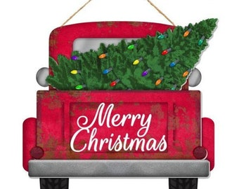Merry Christmas Ornament Sign.Christmas Truck Sign Etsy