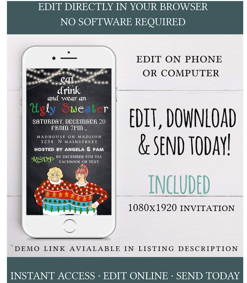 Electronic Christmas invitation,digital