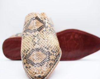 Snakeskin Slippers
