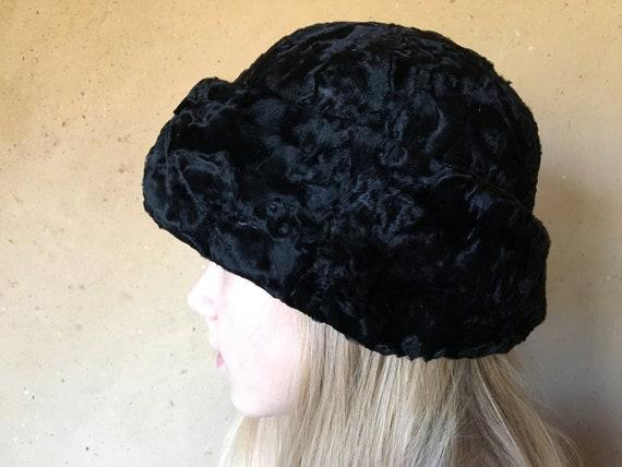 Real karakul fur hat. Russian vintage 1950s hat