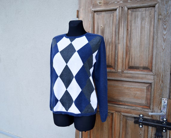 Argyle sweater. Vintage from 1990