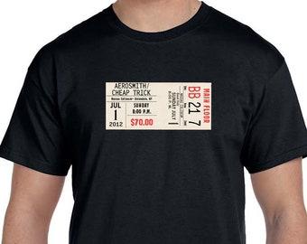 Concert Shirt Custom, Concert Ticket Shirt, Sports Ticket Shirt, Custom Ticket Shirt, Create your own ticket, Concert Gift Shirt
