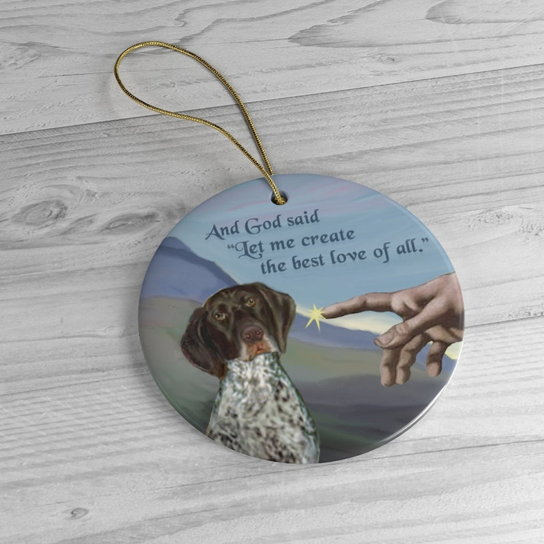German Short Haired Pointer in Hand of God image 0