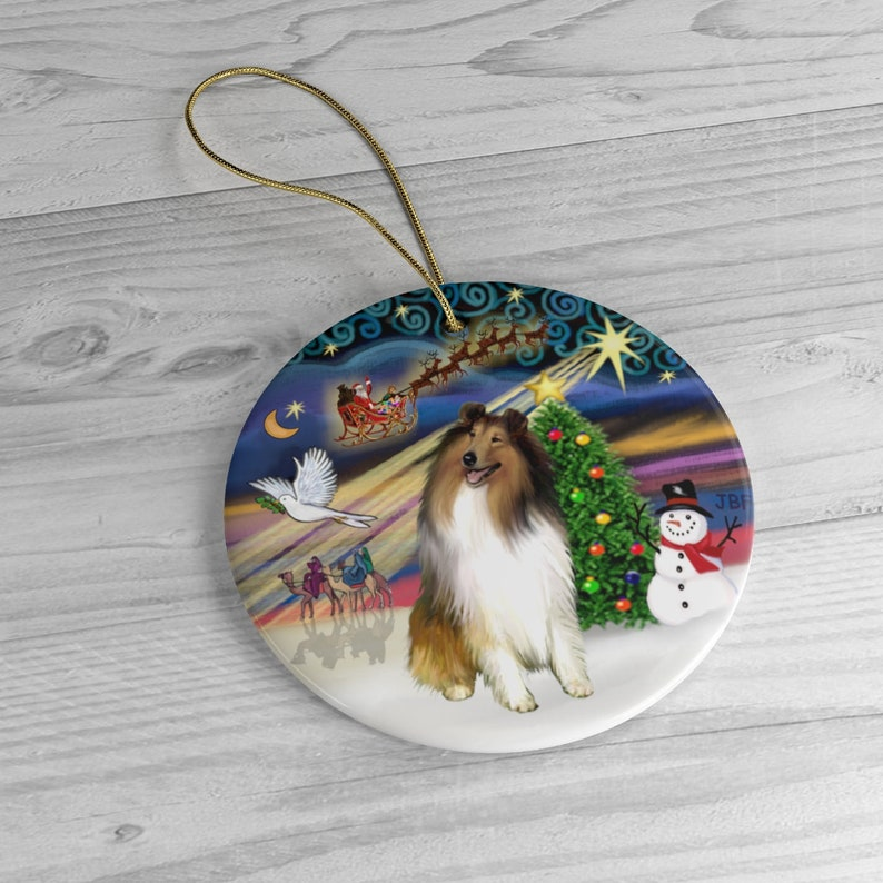 Colle sable-white in Christmas Magic Keepsake image 0