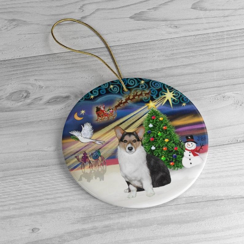Welsh Corgi tri color in Christmas Magic image 0