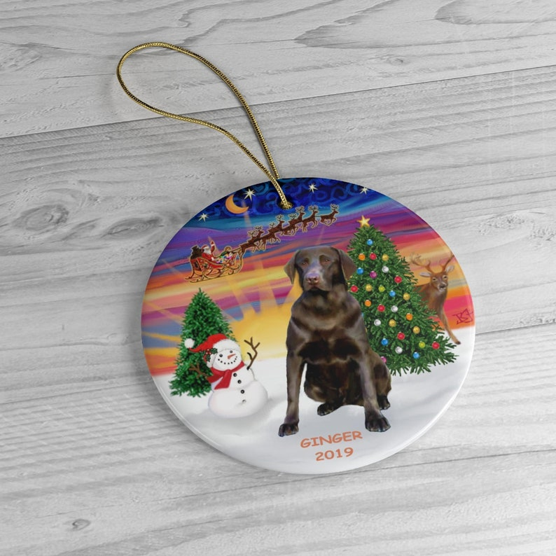 PERSONALIZED:  Ginger the Chocolate Lab in image 0