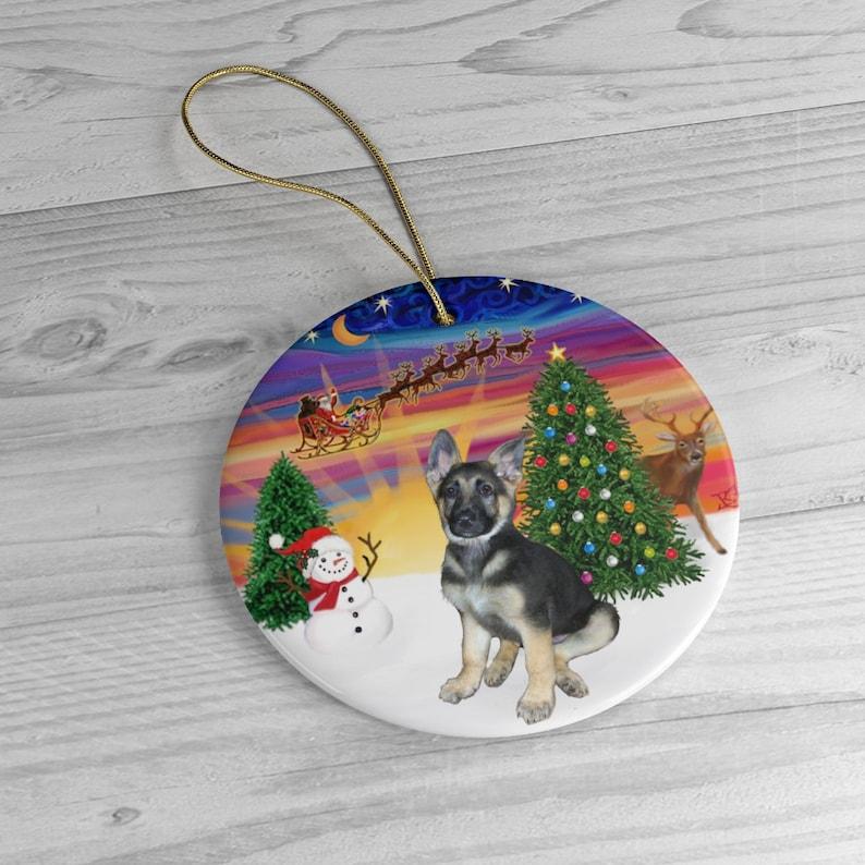 German Shepherd Puppy in Santa's Sunset Take image 0