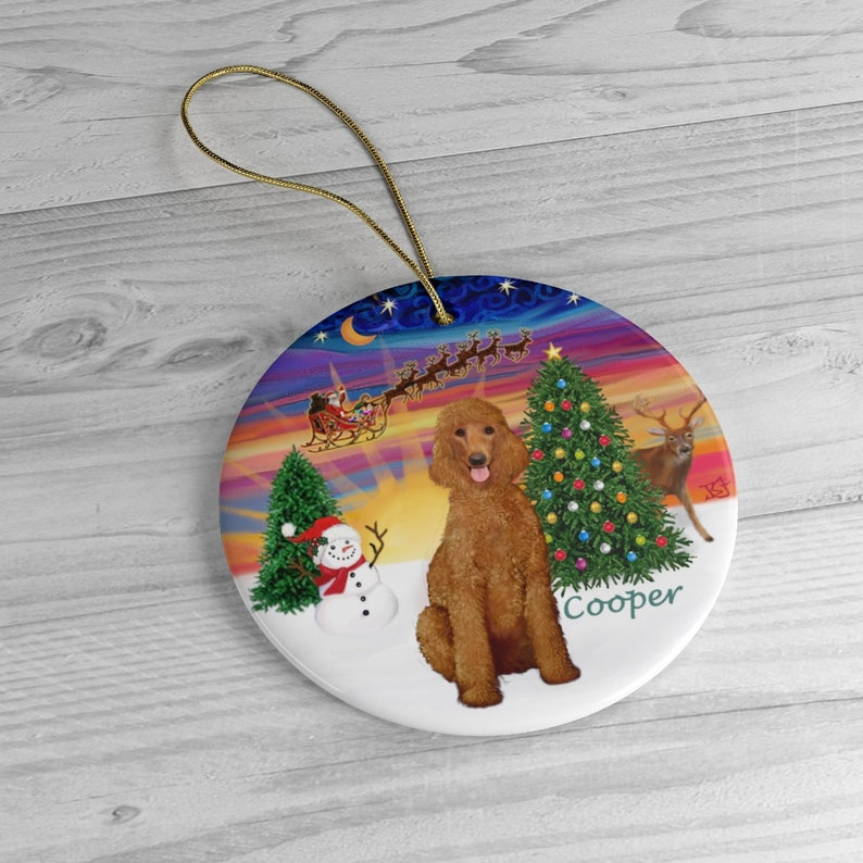 PERSONALIZED:  Cooper in Santa's Sunset image 0