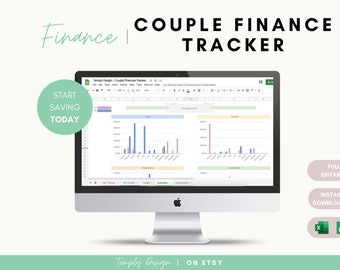 Couple Finances Tracker, Monthly Budget, Expenses Tracker, Finances Planner, Weekly Budget Monitoring, Financial Planner, Money Tracker