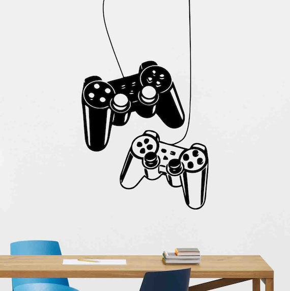 Gaming Zone Wall Stickers Playstation 5 Controller Gamer Vinyl Decals Decor PS5