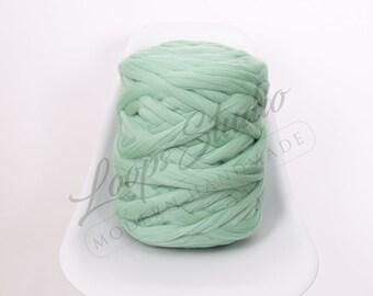 100/% Merino wool roving For Arm knit Super chunky wool Roving wet felting merino tops Mint Giant MERINO WOOL Giant knitting Felting