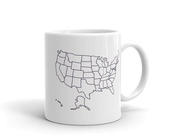 Travel Map Mug