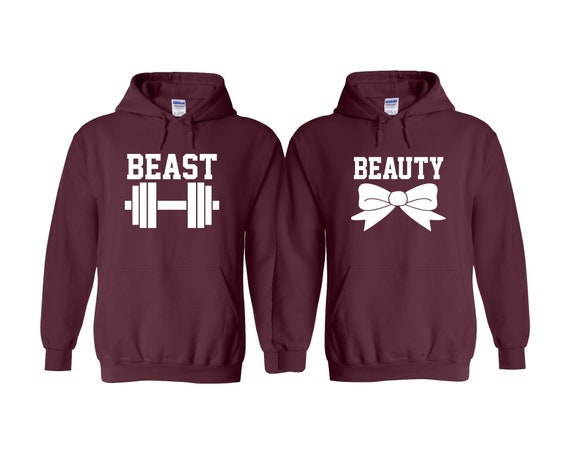 Beauty and Beast Couples Hoodie Set His