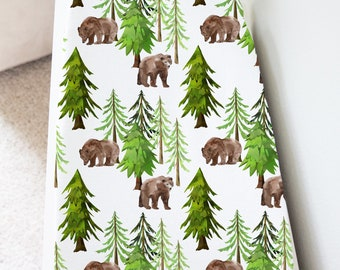 Woodland Changing pad cover Bear Changing Mat Cover