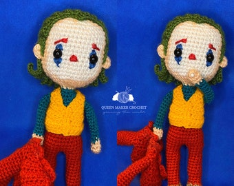 Joker From Batman Amigurumi Crochet Free Pattern | Boy crochet ... | 270x340