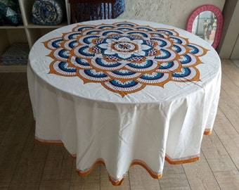 90 Inch Round Tablecloth   Etsy