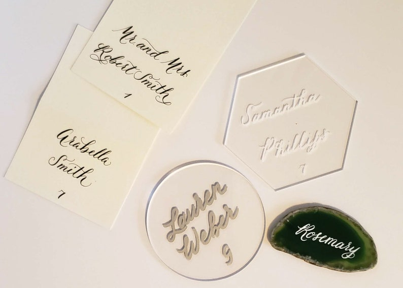 Custom Modern Calligraphy Handwritten EscortPlacecards