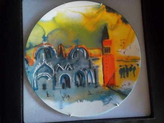 Salvador Dali /'Place Saint-Marc a Venice/' Signed Porcelain Lim 1000 pcs.