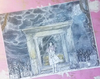 Silvarum Art Print Little Lost Girl